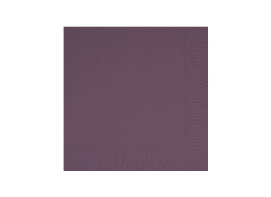 Duni Hochzeits-Servietten 3lagig, Uni lila - plum, 40 x 40 cm, 250 Stück