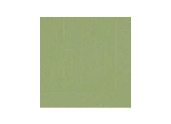 Duni Dinner-Servietten 4lagig Tissue geprägt Uni grün, 40 x 40 cm, 50 Stück