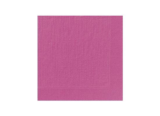 Duni Dinner-Servietten 4lagig Tissue geprägt Uni fuchsia, 40 x 40 cm, 50 Stück