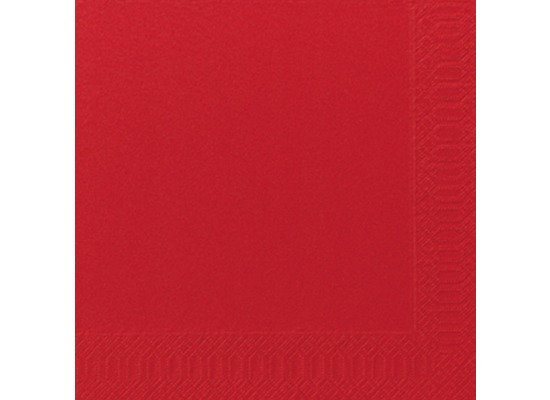 Duni Dinner-Servietten 3lagig Tissue Uni rot, 40 x 40 cm, 250 Stück