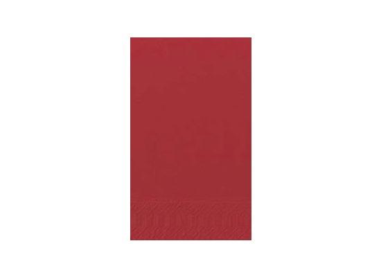 Duni Dinner-Servietten 2lagig Tissue Uni rot, 40 x 40 cm, 250 Stück