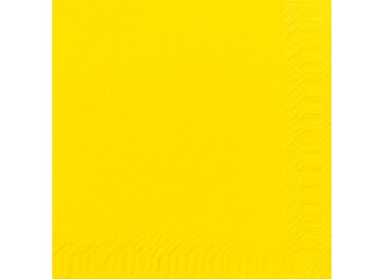 Duni Dinner-Servietten 3lagig Tissue Uni gelb, 40 x 40 cm, 250 Stück