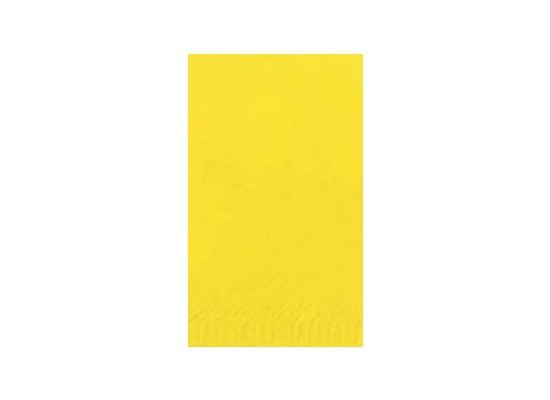 Duni Dinner-Servietten 2lagig Tissue Uni gelb, 40 x 40 cm, 250 Stück