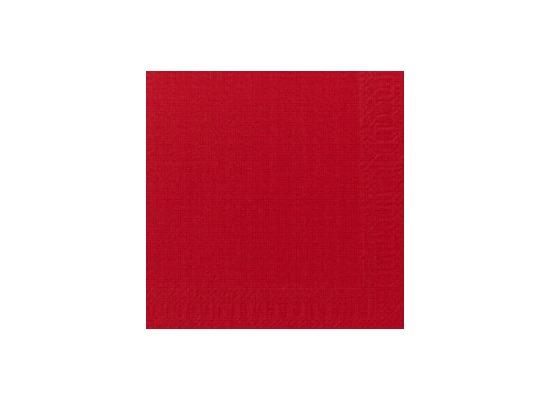 Duni Cocktail-Servietten 3lagig Zelltuch Uni rot, 24 x 24 cm, 250 Stück