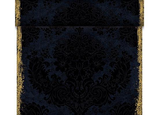 Duni Dunicel-Tischläufer Tête-à-Tête, Motiv Royal black 24mx0,40m 1 St.