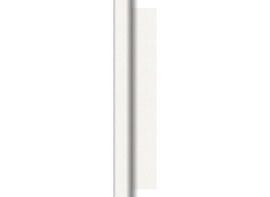 Duni Dunisilk Tischdeckenrolle Linnea weiß 0,84 x 40 m