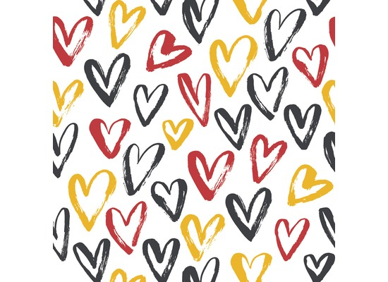 Duni Servietten Tissue Heart Soccer 33 x 33 cm 20 St.