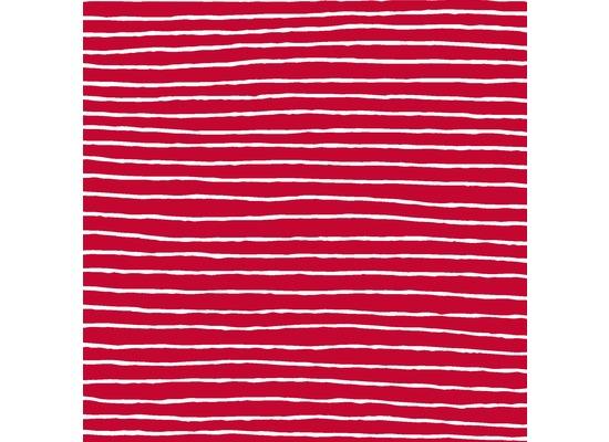 Duni Servietten Tissue Red Stripe 33 x 33 cm 20 St.