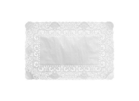 Duni Tortenspitzen Rechteckig weiß 25 x 35 cm 250 Stück