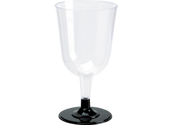 Duni Weingläser transparent / schwarz 24 cl 12 Stück