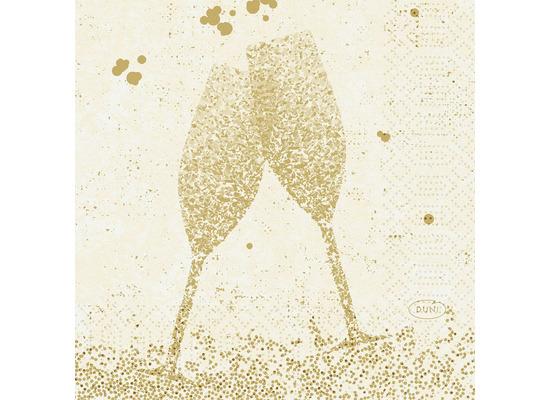 Duni Zelltuchservietten Celebrate White 24 x 24 cm 50 Stück
