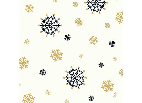 Duni Zelltuchservietten Snowflake Necklace White 40 x 40 cm 3-lagig 1/4 Falz 250 Stück