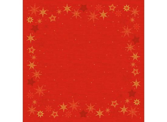 Duni Dunicel-Mitteldecken 84 x 84 cm Star Stories Red, 20 Stück