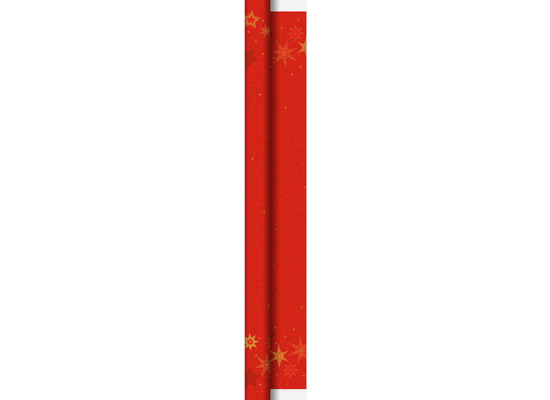 Duni Dunicel-Tischdeckenrollen 1,18 m x 25 m Star Stories Red