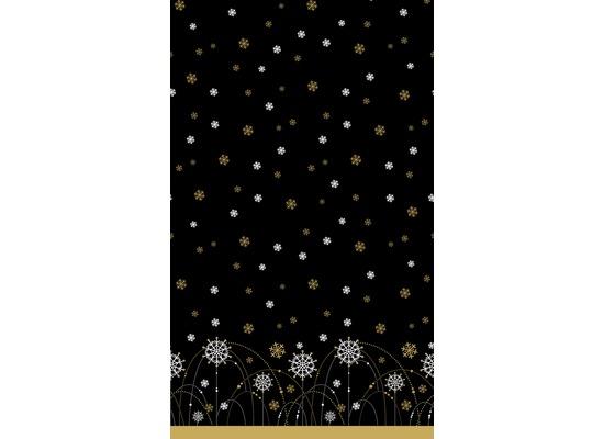 Duni Dunicel Tischdecken Snow Necklace Black 138 x 220 cm 1 Stück