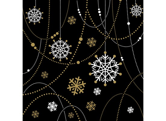 Duni Dunilin® Servietten Snow Necklace Black 40 x 40 cm 12 Stück