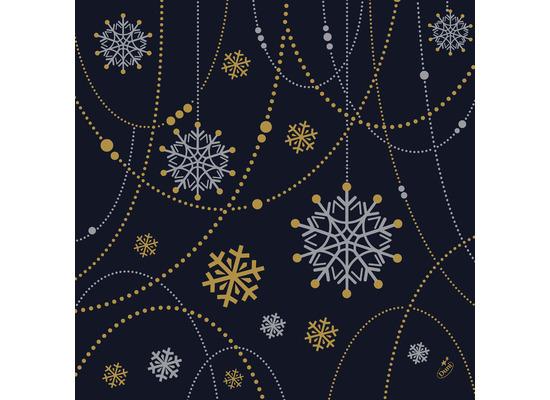 Duni Dunisoft-Servietten 40 x 40 cm Snowflake Necklace Black