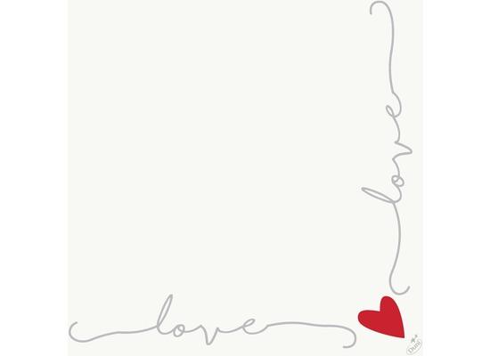 Duni Dunisoft-Servietten Love 40 x 40 cm 60 Stück