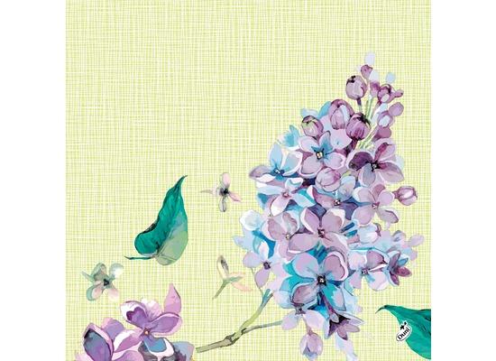 Duni Dunisoft® Servietten Sweet Butterfly Lime 40 x 40 cm 12 Stück