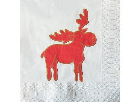 Finess Finess-Servietten 33x33cm 3-lagig 30er Cute Moose