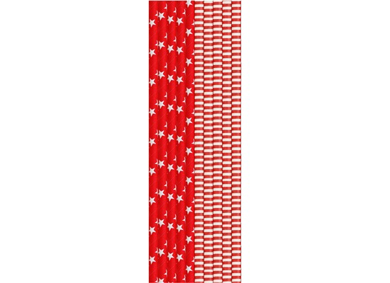 Duni FSC-Papier Bio Papier-Strohhalme Red & White 20 cm, ø 6 mm 25 Stück