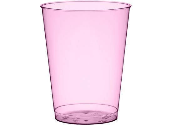 Duni Gläser Plastik Party 25 cl   10 Stück BBQ Hot Pink Line