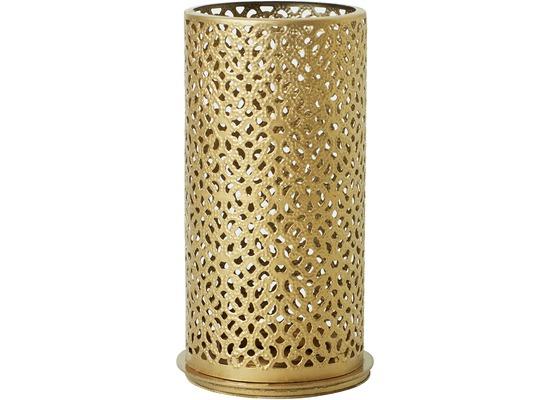 Duni Kerzenhalter Bliss gold, aus Metall für Maxi-Teelichte oder LED 140x75mm