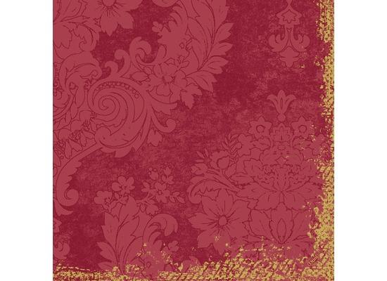 Duni Klassik-Servietten 4 lagig 1/4 Falz 40 x 40 cm Royal Bordeaux, 50 Stück