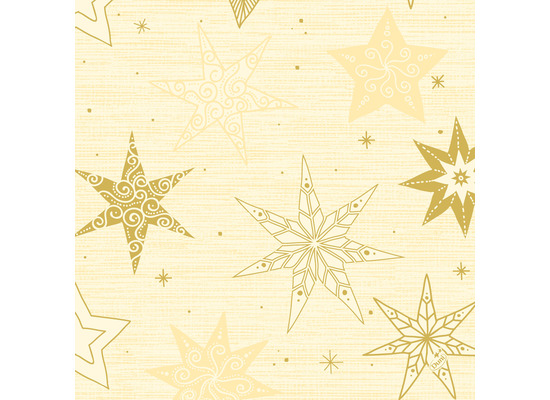 Duni Klassikservietten 40 x 40 cm Star Stories Cream