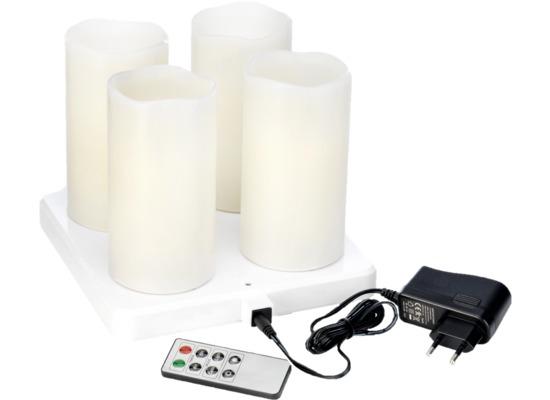 Duni LED Stumpenkerze 220 x 75 mm Warm White Set 4 Stück