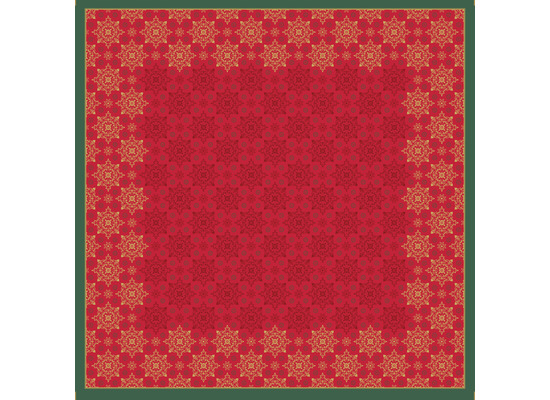 Duni Mitteldecken Dunicel® 84 x 84 cm X-Mas Deco Red 1er Pack