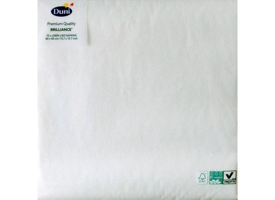 Duni Poesie-Servietten aus Dunilin Motiv Brilliance weiß, 40 x 40 cm, 10 Stück
