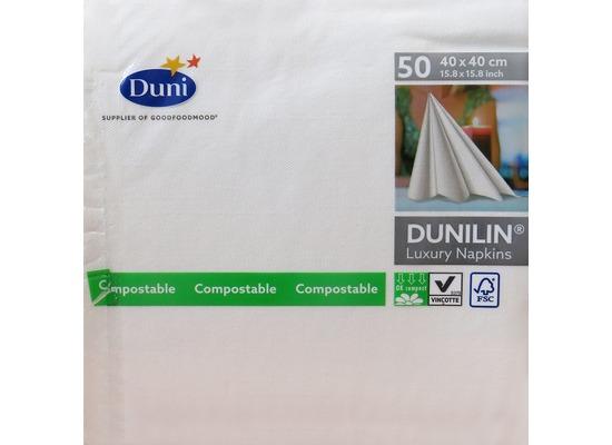 Duni Poesie-Servietten aus Dunilin, Uni weiß unbedruckt, 40 x 40 cm, 50 Stück