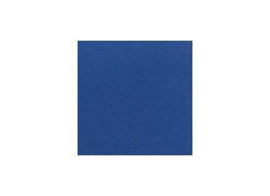 Duni Cocktail-Servietten 3lagig Zelltuch Uni dunkelblau, 24 x 24 cm, 250 Stück