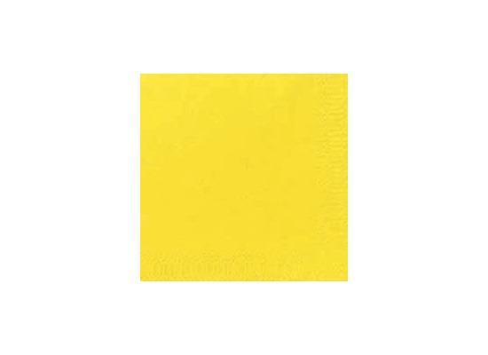 Duni Cocktail-Servietten 3lagig Zelltuch Uni gelb, 24 x 24 cm, 250 Stück