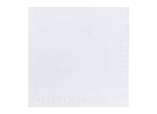 Duni Cocktail-Servietten 3lagig Zelltuch Uni weiß, 24 x 24 cm, 250 Stück