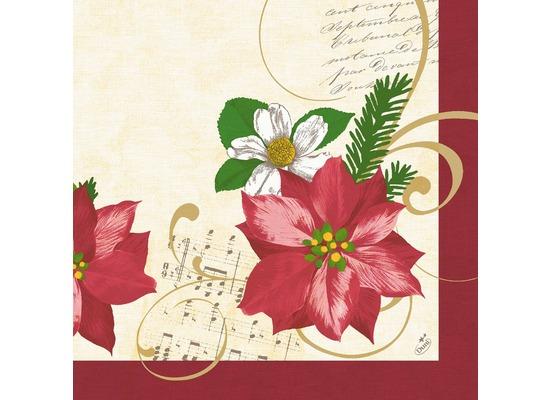 duni servietten motiv christmas flower 40 x 40 cm 50 st ck themen welt bei kaufen. Black Bedroom Furniture Sets. Home Design Ideas
