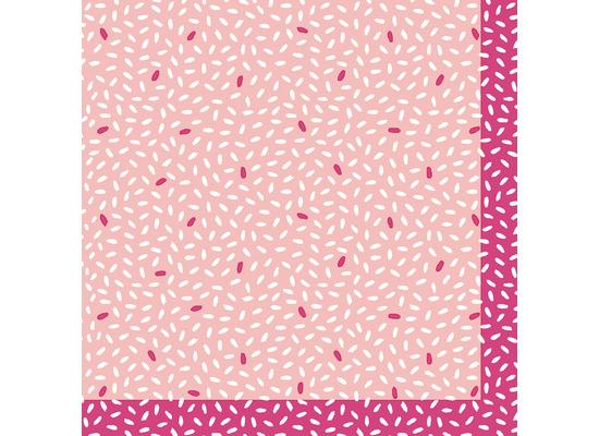 Duni Servietten Tissue Rice Pink 24 x 24 cm 20 Stück