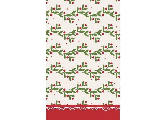 Duni Tischdecken Dunicel® 118 x 180 cm Happy Holly 1er Pack