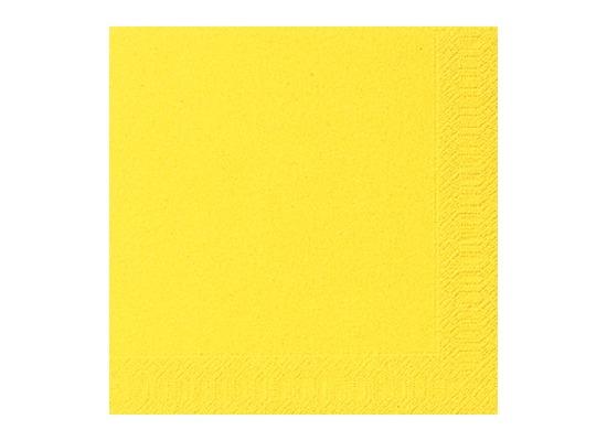 Duni Tissue Servietten gelb 33 x 33 cm 50 Stück