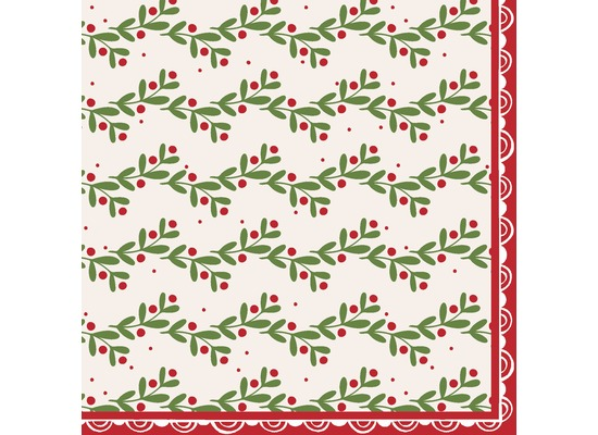 Duni Tissue Servietten Happy Holly 33 x 33 cm 20 Stück