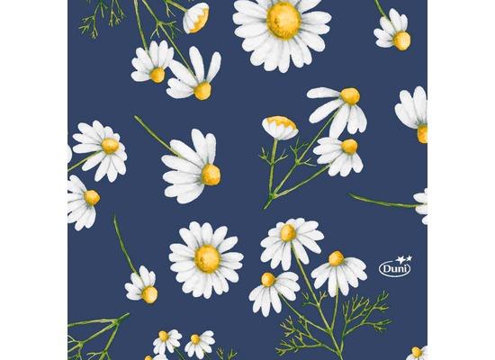 Duni Tissue Servietten Pretty Daisy Blue 24 x 24 cm 20 Stück