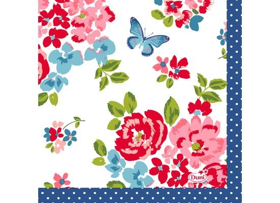 Duni Tissue Servietten Sweet Roses 24 x 24 cm 20 Stück