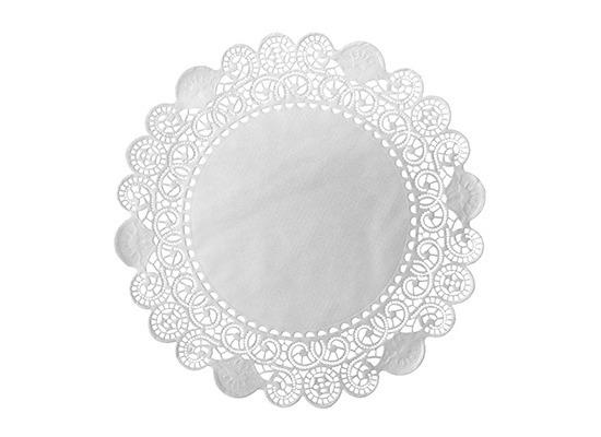 Duni Torten-Spitzen rund weiß, ø 26,7 cm, 250 Stück