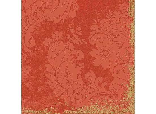 Duni Zelltuch-Servietten 3 lagig 1/4 Falz 33 x 33 cm Royal Mandarin, 250 Stück