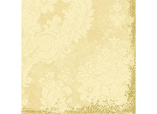 Duni Zelltuch-Servietten 3 lagig 1/4 Falz 40 x 40 cm Royal Cream, 250 Stück