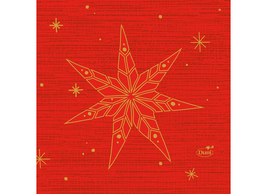 Duni Zelltuchservietten 24 x 24 cm Star Stories Red