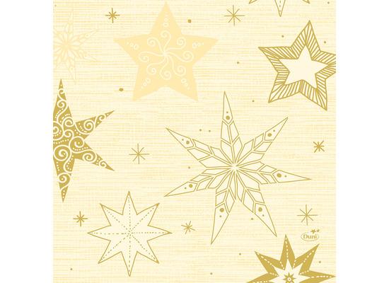 Duni Zelltuchservietten 33 x 33 cm Star Stories Cream