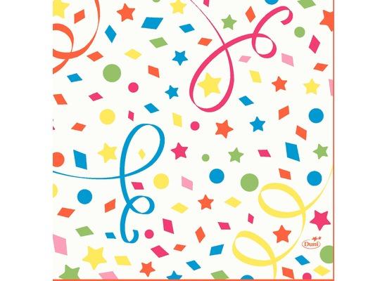 Duni Zelltuchservietten Confetti 33 x 33 cm 1/4 Falz 50 Stück