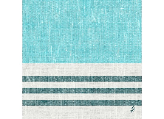 Duni Zelltuchservietten Raya blue 40 x 40 cm 1/4 Falz 250 Stück